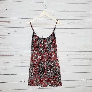 S Volcom slip dress red and black